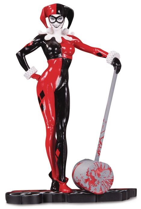 Gallery Diorama: DC Comics – Red, White and Black Harley Quinn Statue By Adam Hughes,18 cm