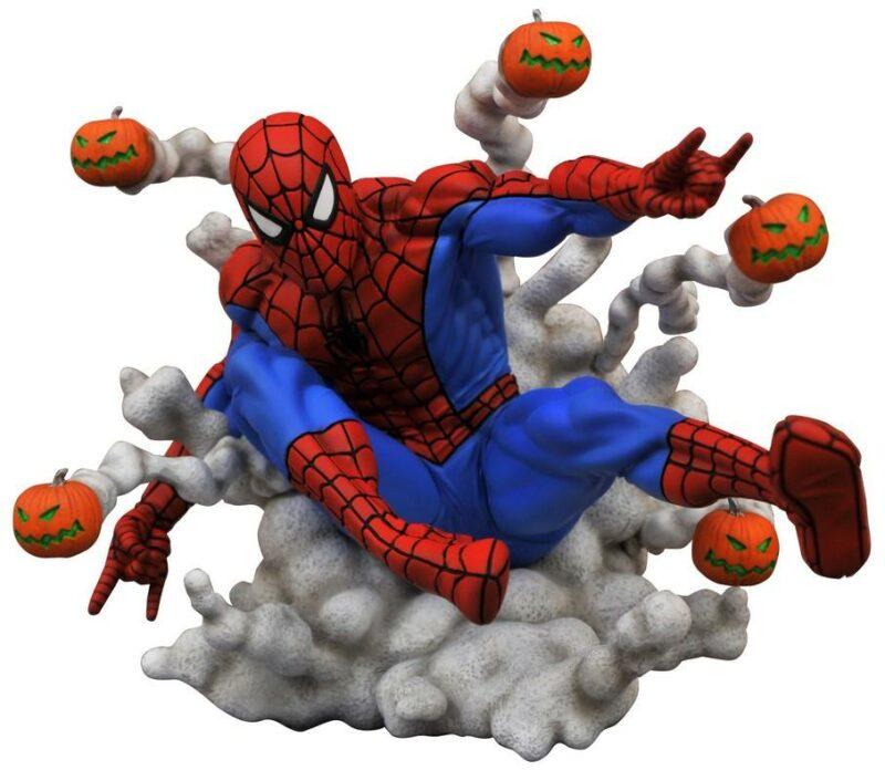 Gallery Diorama: Marvel – Pumpkin Bomb Spider-man Statue, 16cm