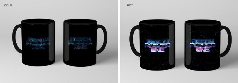 Ready Player One – RP1 Logo Black Heat Mug