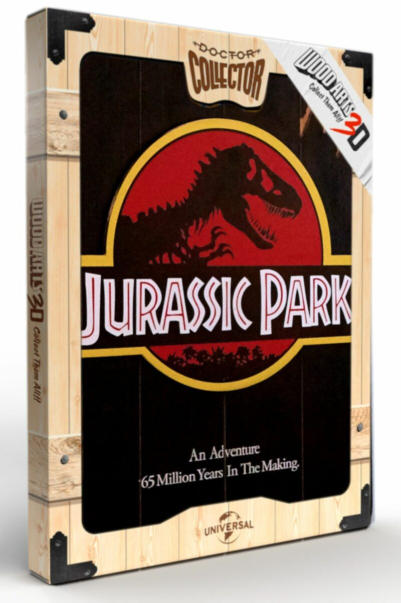Jurassic Park – Wooden 1993 Poster