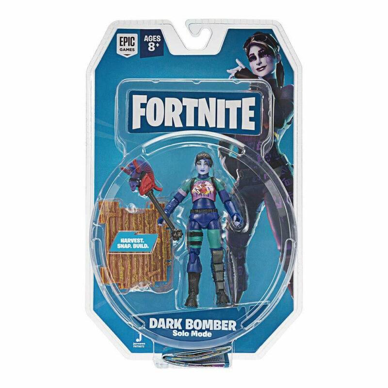 Fortnite: Solo Mode – Dark Bomber Action Figure Pack, 10cm