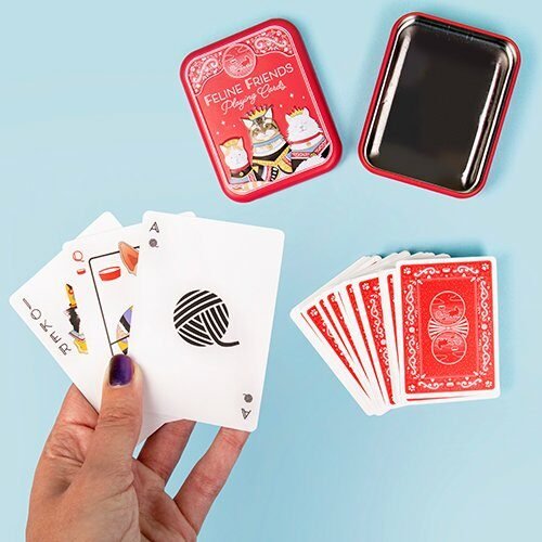 Feline Friends Playing Cards