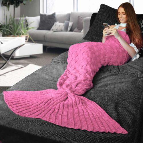 Mermaid Tail Blanket – Pink