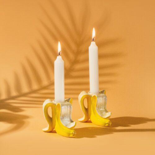 Candlestick – Banana Romance (2 pcs.)