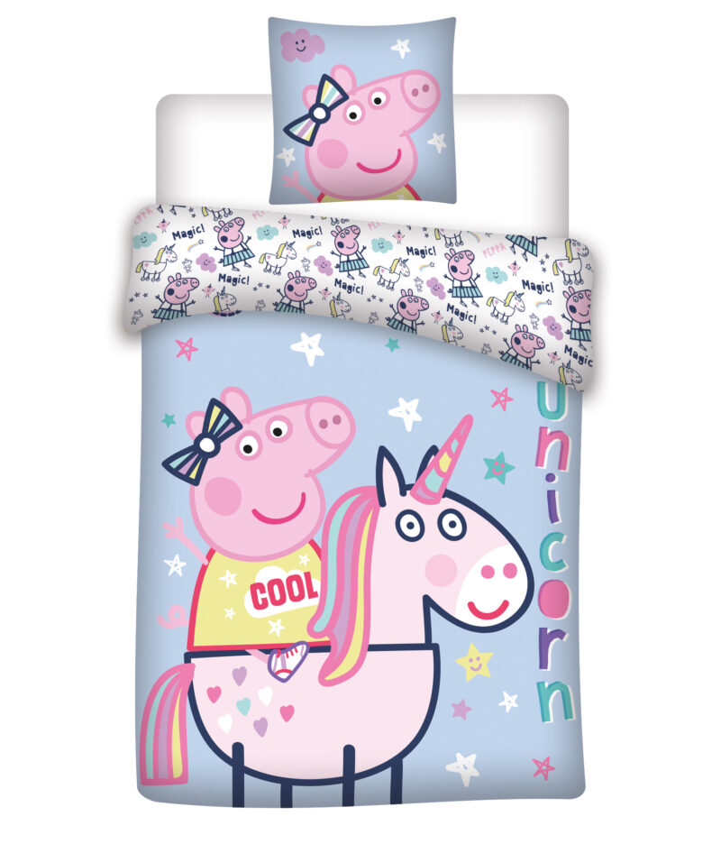 Bed Linen – Adult Size 140 x 200 cm – Peppa Pig