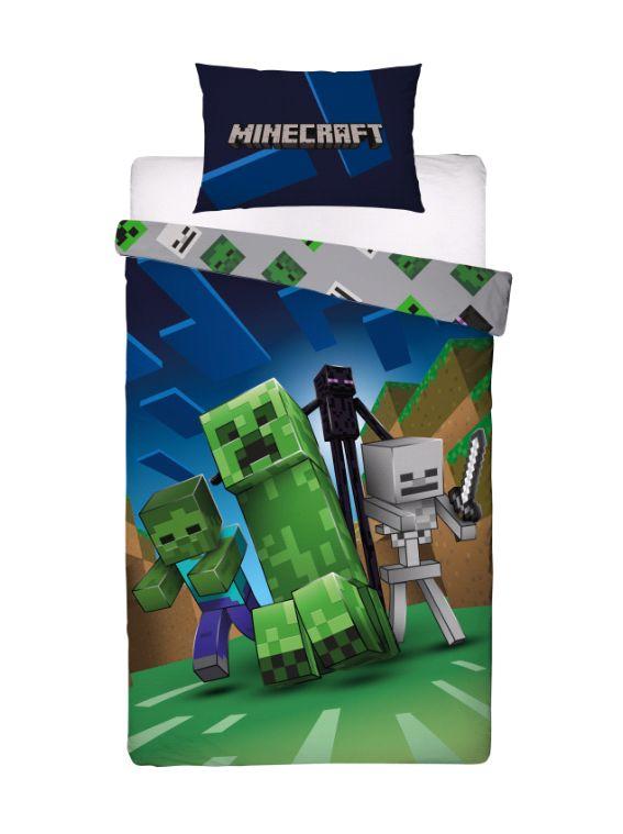 Single Duvet and Pillow Set – Minecraft (Overworld), 200x140cm