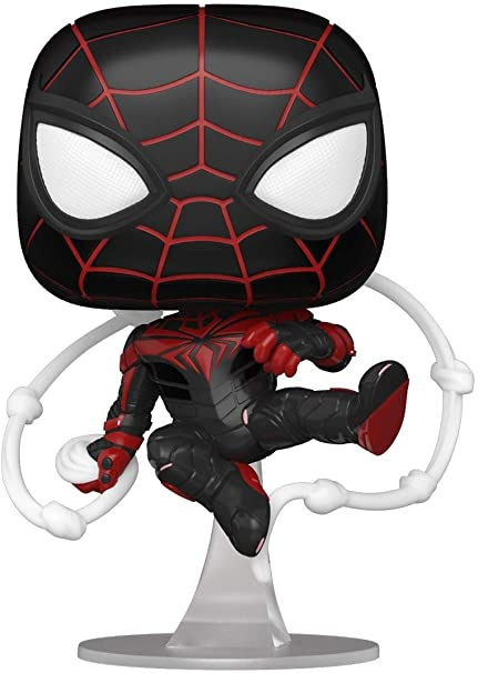 POP! Games: Marvel Spider-Man: Miles Morales – Miles Morales (Advanced Tech Suit) Vinyl Bobble-Head