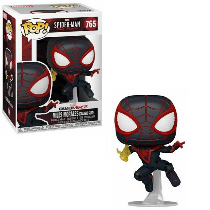 POP! Games: Marvel Spider-Man: Miles Morales – Miles Morales (Classic Suit) Vinyl Bobble-Head