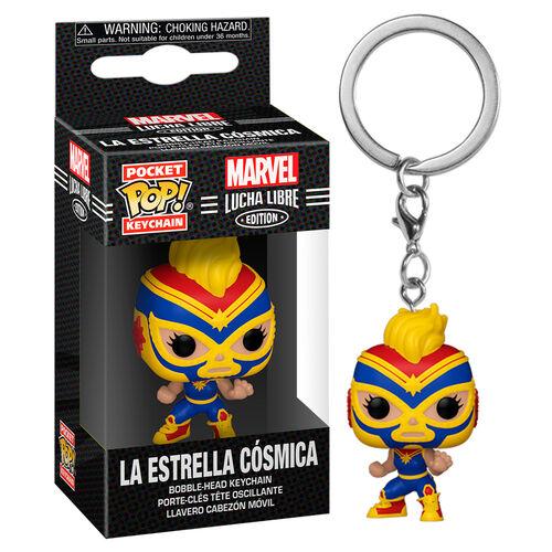 POP! Pocket Keychain: Marvel Lucha Libre Edition – La Estrella Cosmica Bobble-Head