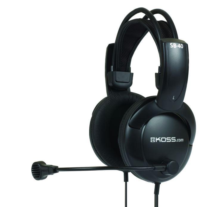 Koss Headphones SB40 Headband/On-Ear, 3.5mm (1/8 inch), Microphone, Black,