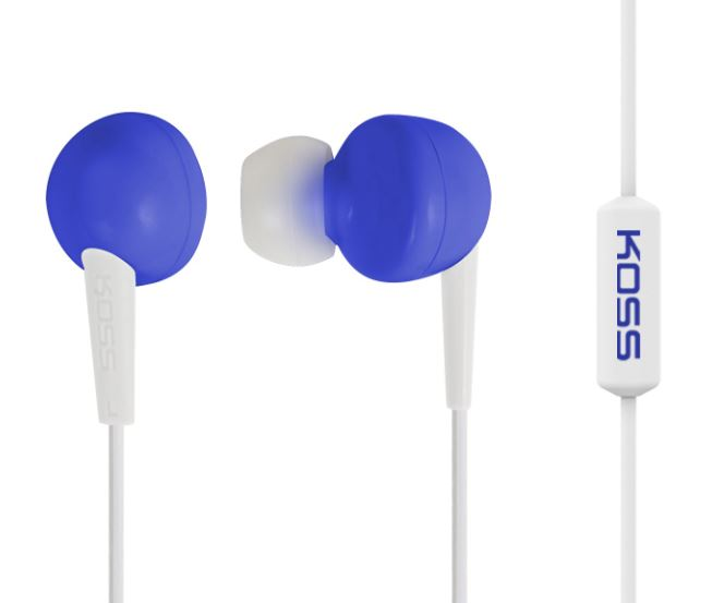 Koss Headphones KEB6iB In-ear, 3.5mm (1/8 inch), Microphone, Blue,