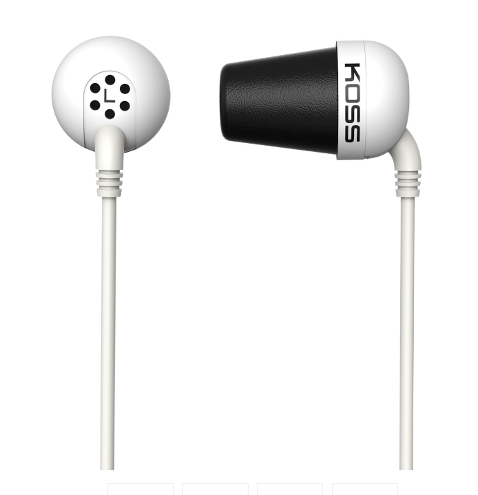 Koss Plug In-ear, 3.5 mm, White, Noice canceling,