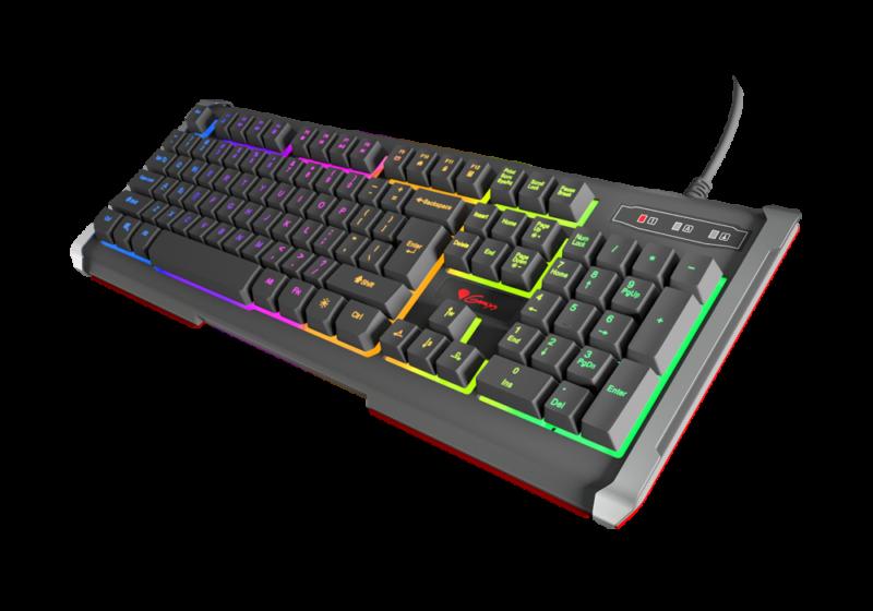 Genesis Rhod 400 RGB Gaming keyboard, RGB LED light, US, USB,
