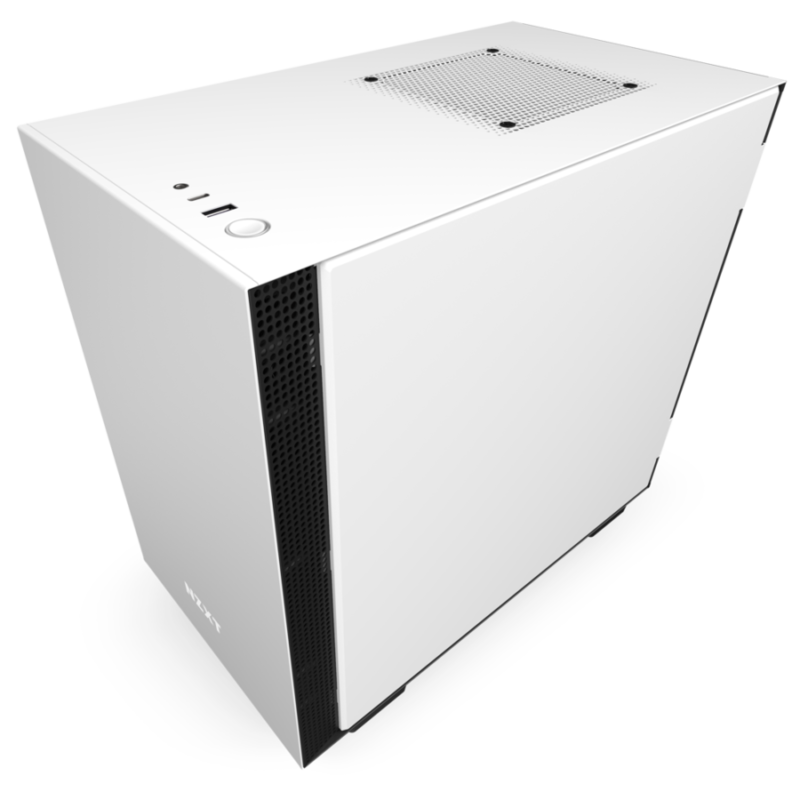 NZXT H210 Side window, White/Black, Mini ITX, Power supply included No