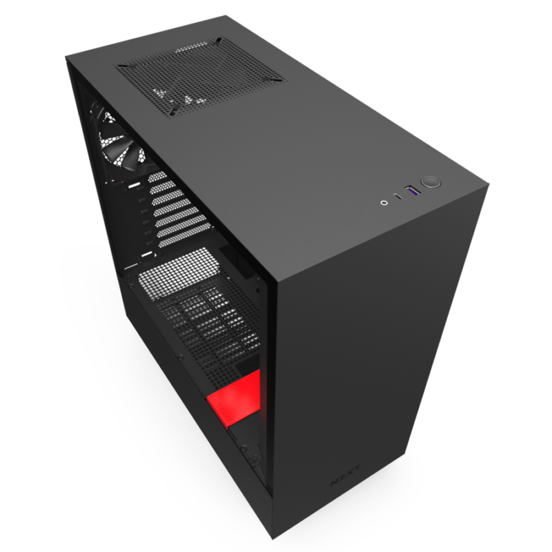NZXT H510 Side window, Black/Red, ATX, Power supply included No