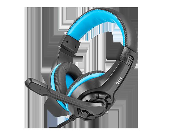 Genesis Gaming headset, 3.5 mm, Wildcat, Black/Blue, Built-in microphone