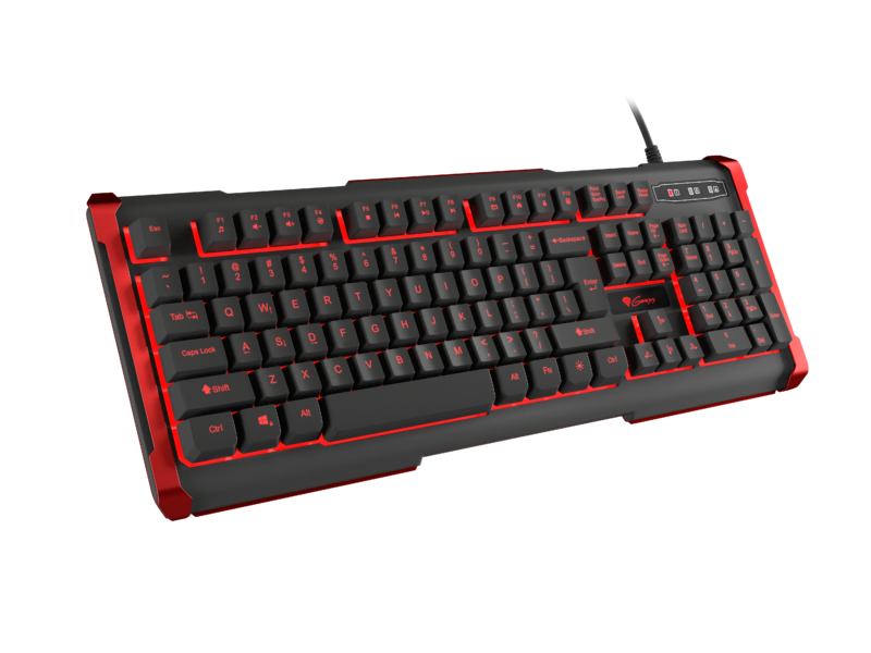 Genesis Rhod 420 Gaming keyboard, US, Wired, Red/Black