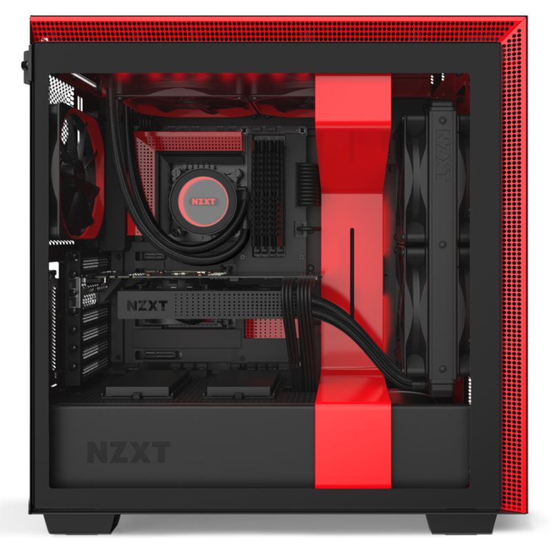 NZXT H710i Black/Red, ATX, Power supply included No