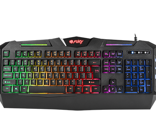 FURY Spitfire Gaming Keyboard, US Layout, Wired, Black