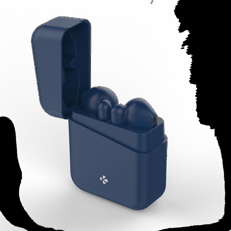 MyKronoz TWS Wireless Earbuds with charging case ZeBuds Lite Bluetooth, In-ear, Microphone, Wireless, Blue