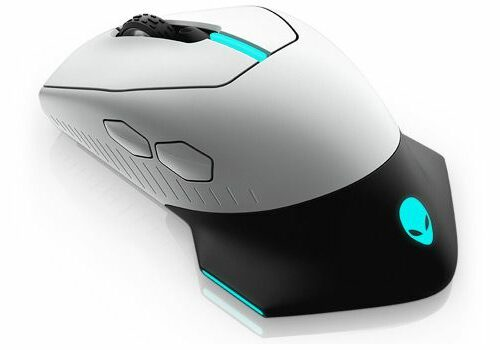 Dell Alienware AW610M Wireless wired optical, Gaming Mouse, 2 year(s), Lunar Light