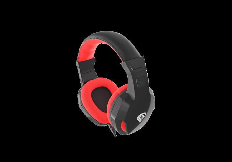 Genesis Gaming Headset, 3.5 mm, ARGON 100, Red/Black, Built-in microphone