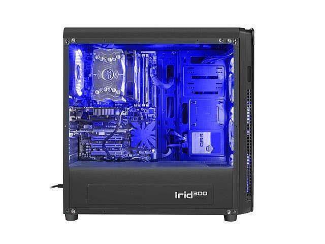 GENESIS IRID 300 Pc case, Midi tower, USB 3.0, Blue