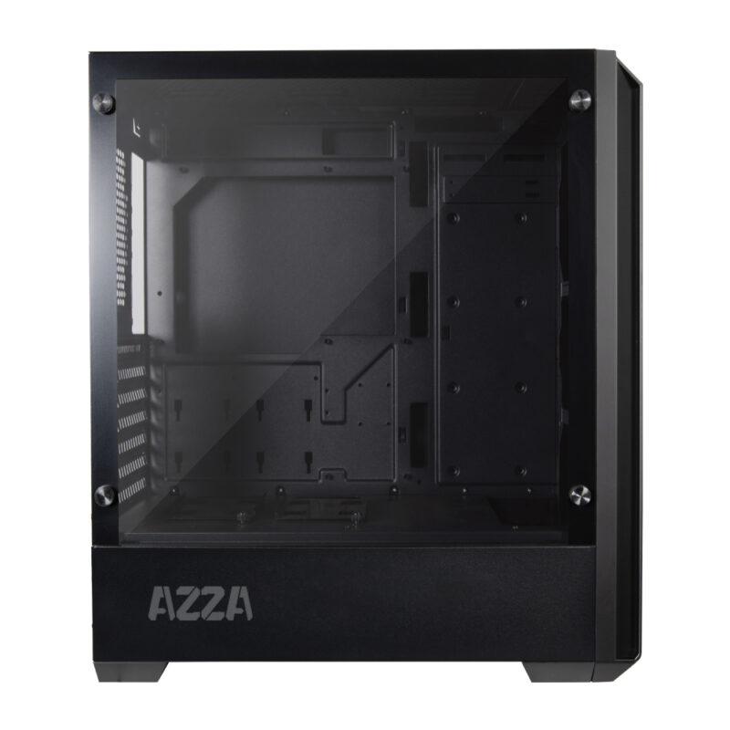AZZA Raven 420DF1 Black, ATX, Power supply included No