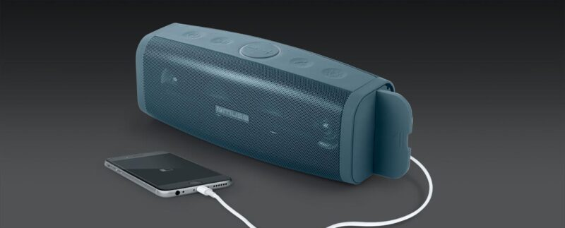 Muse M-830 DJ Speaker, Wireless, Bluetooth, Blue Muse