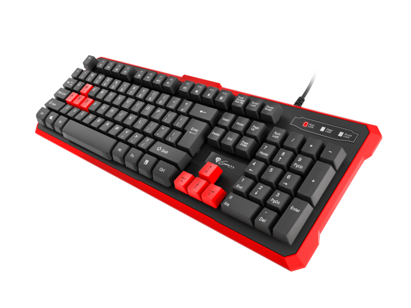 GENESIS RHOD 110 Gaming Keyboard, US Layout, Wired, Red
