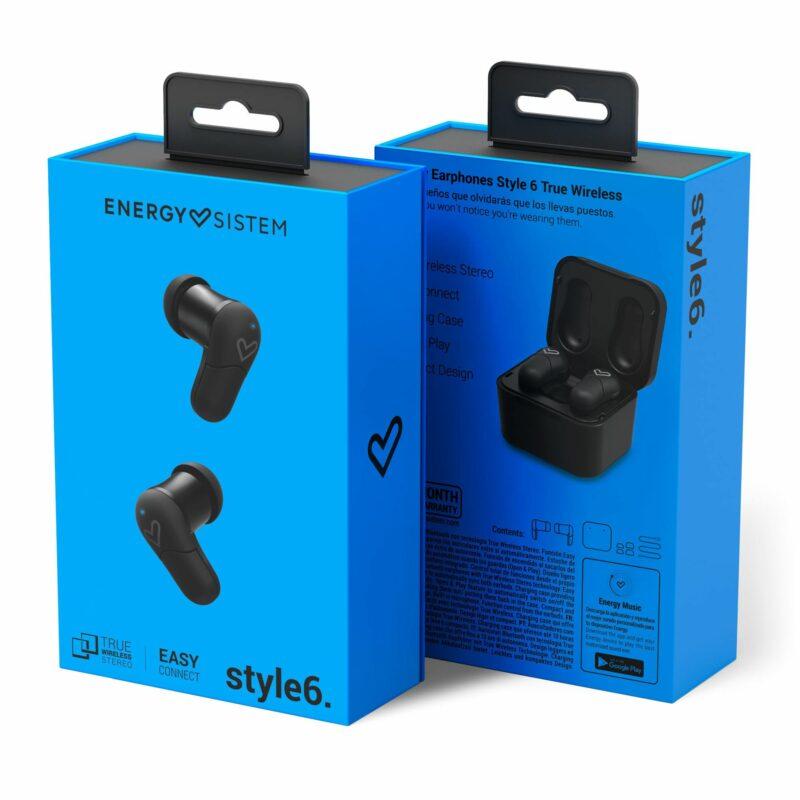 Energy Sistem Earphones Style 6 True Wireless In-ear, Microphone, Wireless connection, Black