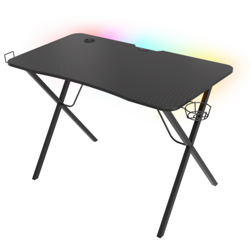 Genesis Holm 200 RGB Gaming Desk, Black