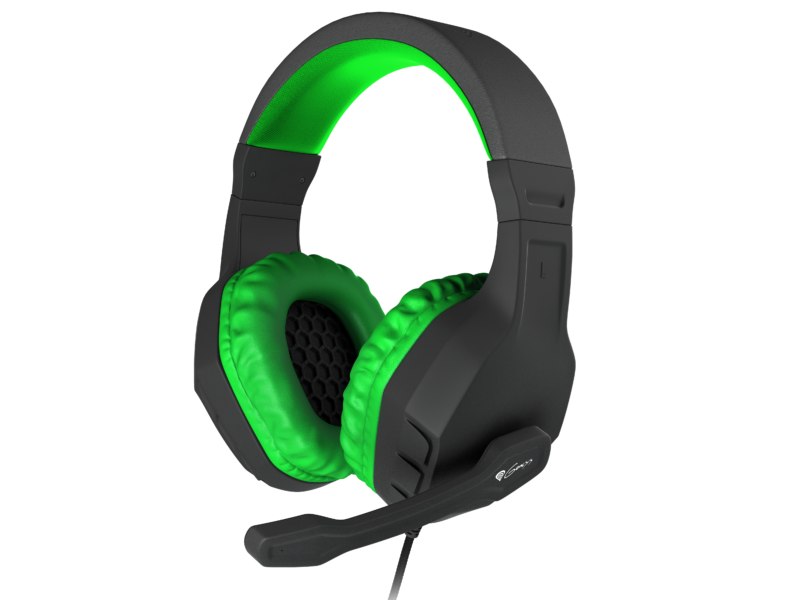 GENESIS ARGON 200 Gaming Headset, On-Ear, Wired, Microphone, Green