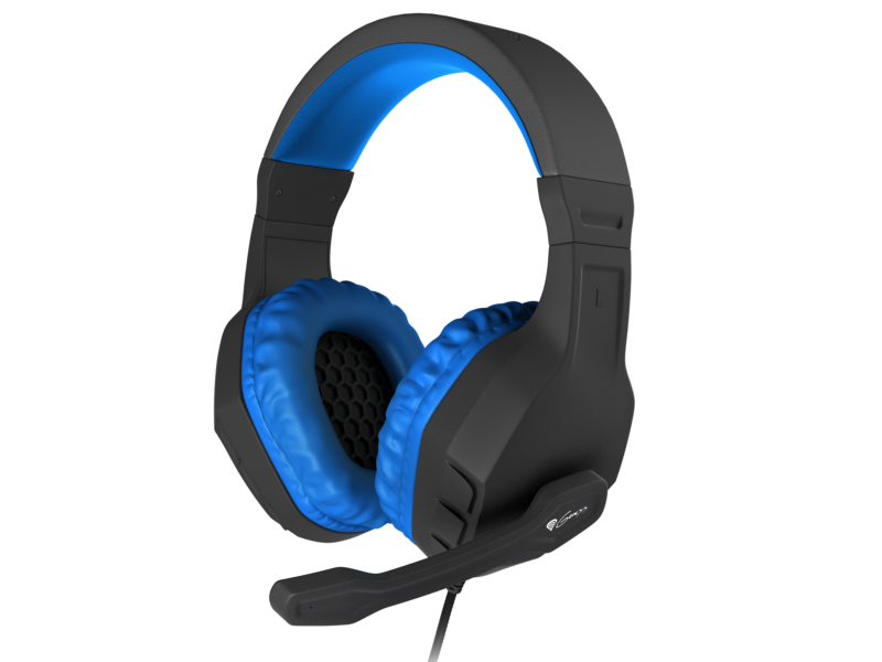 GENESIS ARGON 200 Gaming Headset, On-Ear, Wired, Microphone, Blue