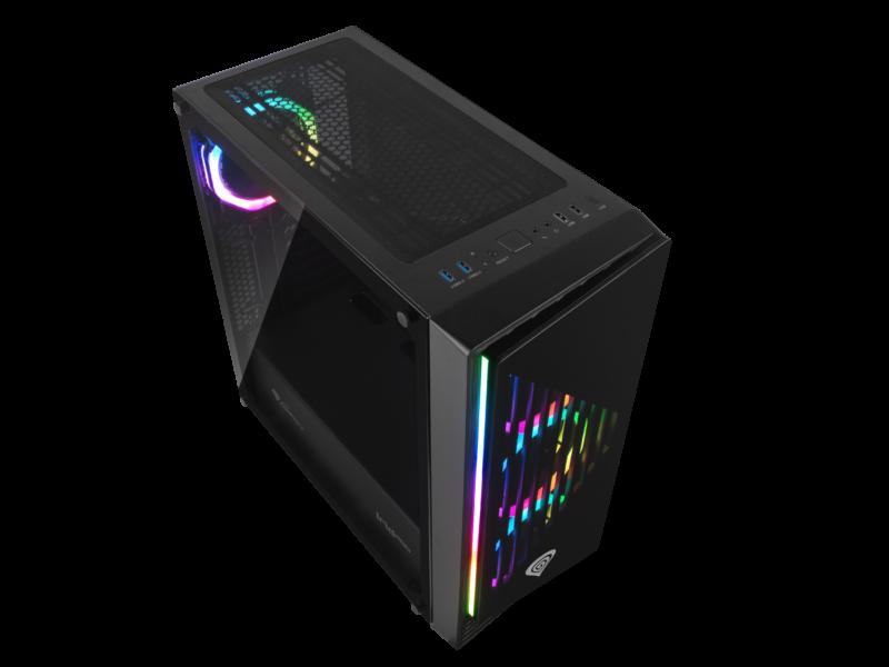 Genesis PC Case IRID 400 RGB Black, ATX
