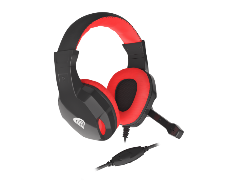GENESIS ARGON 110 Gaming Headset, On-Ear, Wired, Microphone, Black/Red