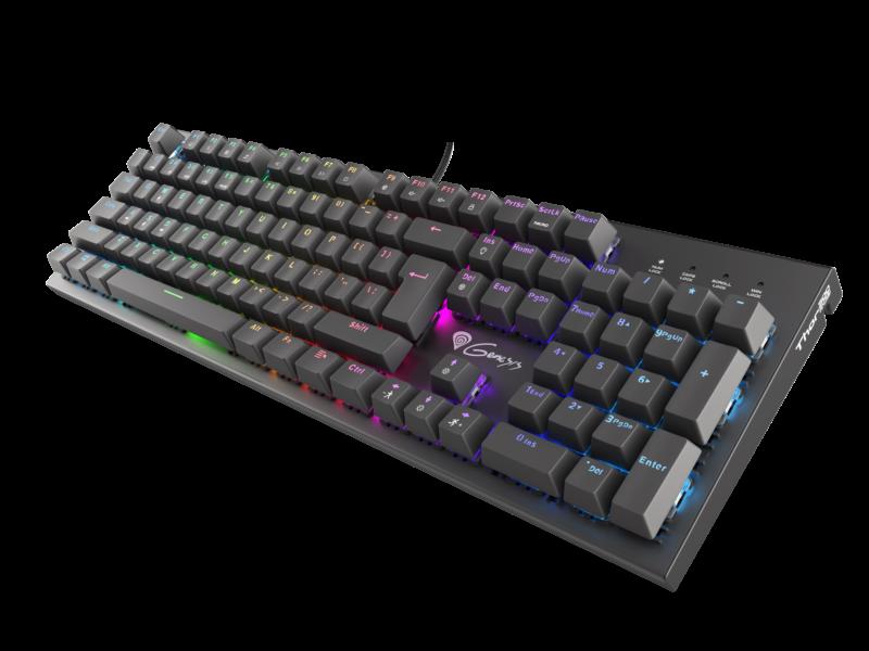 Genesis Thor 300 RGB, Gaming keyboard, RGB LED light, US, Black, USB 2.0