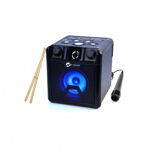N-Gear Portable Bluetooth Cube Drum Speaker The Drum Block 420 50 W, Portable, Wireless connection, Black, Bluetooth