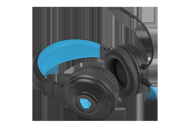 Fury Gaming Headset Warhawk Built-in microphone, Black/Blue