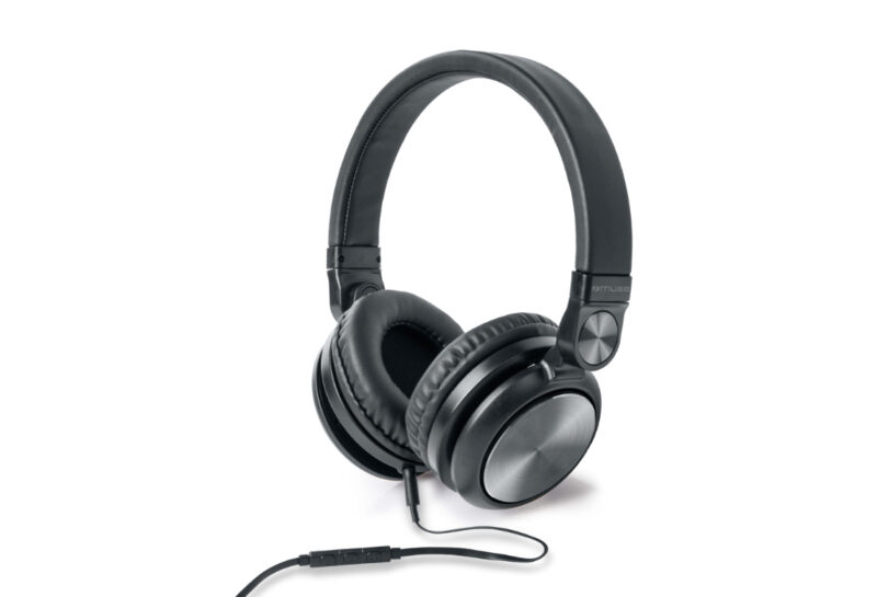 Muse Stereo Headphones  M-220 CF Over-ear, Microphone, Wired, Aux in jack, Black