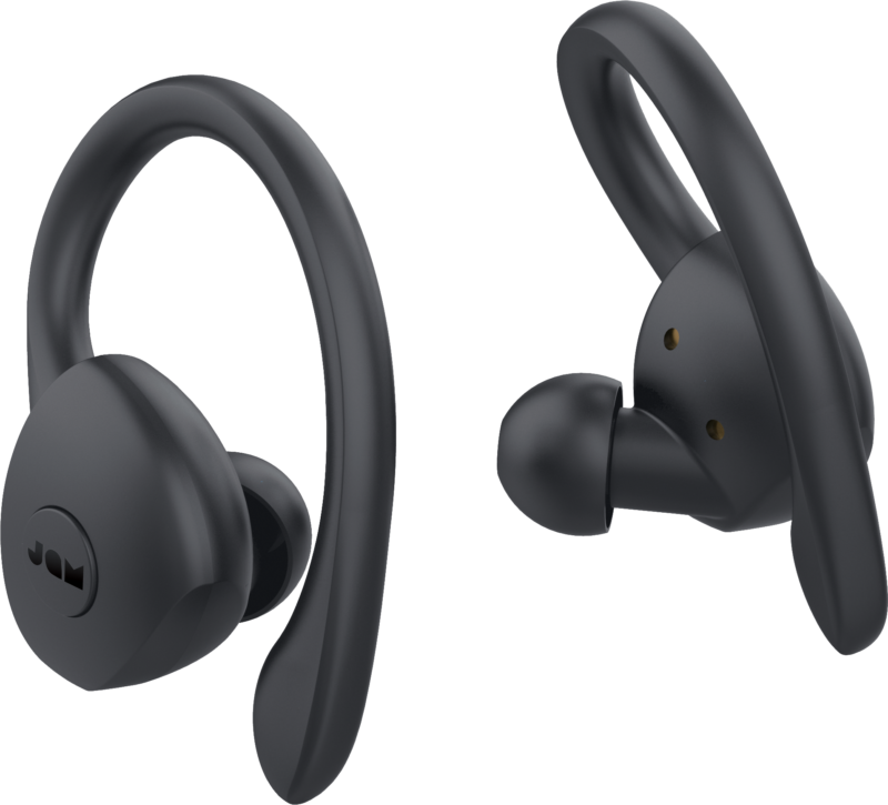 Jam TWS Athlete Earbuds, In-Ear, Wireless, Microphone, Black