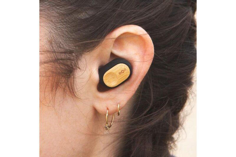Marley Liberate Air Earphones, In-Ear, Wireless, Microphone, Black