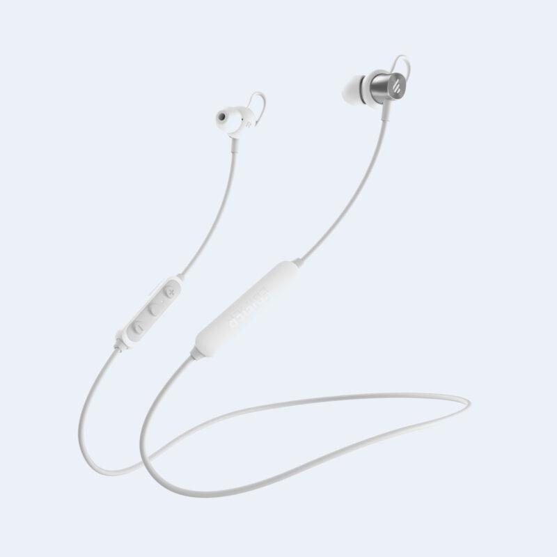 Edifier Wireless Sports Earphones W200BTSE Neckband, Microphone, 5.0, Yes, Noice canceling, Silver