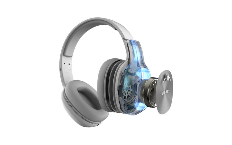 Edifier Headphones BT W800BT Over-ear, Wired and Wireless, Yes, White/Silver