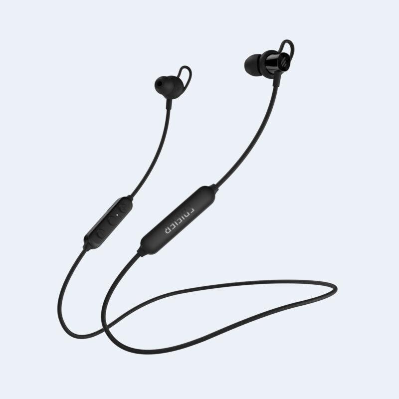 Edifier Wireless Sports Earphones W200BTSE Neckband, Microphone, 5.0, Yes, Noice canceling, Black