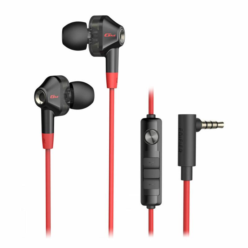 Edifier Gaming Earphones GM2 SE In-ear, Microphone, Noice canceling, Black/Red