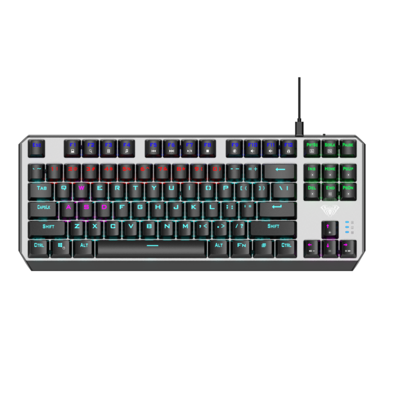 Aula Aegis Mechanical Keyboard, Wired, EN, BLUE switch, USB, Black