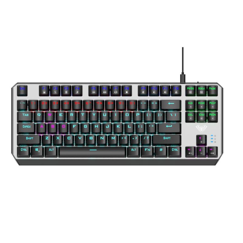 Aula Aegis Mechanical Keyboard, Wired, EN/RU, RED switch, USB, Black