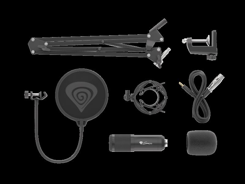 Genesis Gaming Microphone Radium 300 Black, Wired