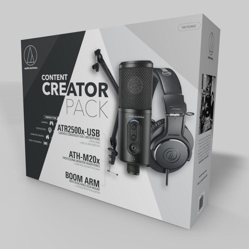 Audio Technica CREATOR PACK USB/3.5 mm, Black